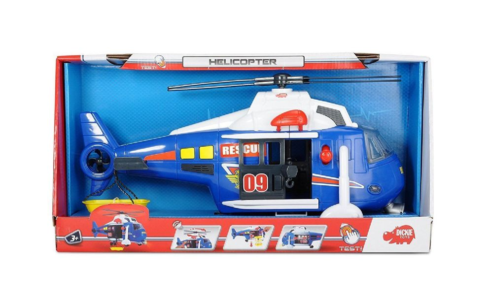 Dickie Toys Free Wheel Helicopter with Light and sounds.